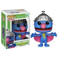 Sesame Street - Figurine Pop Super Grover 10cm