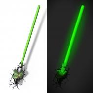 Star Wars - Lampe décorative 3D Yoda Sabre