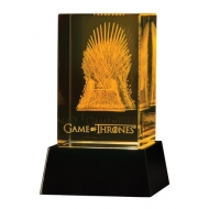 Game of Thrones - Bloc de verre 3D LED Iron Throne 8 cm