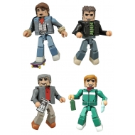 Retour vers le futur - Pack 4 figurines Minimates 30th Anniversary 1985 Box Set 5 cm