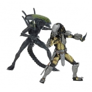 Alien vs. Predator - Pack 2 figurines Battle Damaged Celtic vs Battle Damaged Grid 20-23 cm