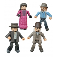 Retour vers le futur - Pack 4 figurines Minimates 30th Anniversary 1885 Box Set 5 cm