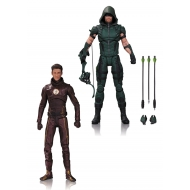 DC Comics - Pack 2 figurines Arrow & The Flash 17 cm