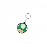 Super Mario Bros - Porte-clés caoutchouc 1-Up Mushroom 6 cm