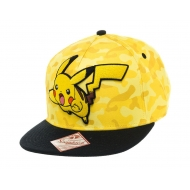 Pokemon - Casquette hip hop Snap Back Pikachu Camo