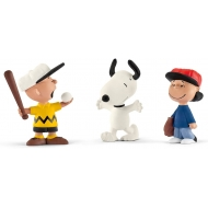 Snoopy - Pack 3 figurines Snoopy Baseball 6 cm