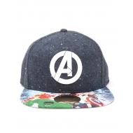 Marvel Comics - Casquette hip hop Snap Back Logo with Comic Print