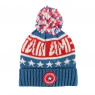 Captain America - Bonnet Knitted Logo