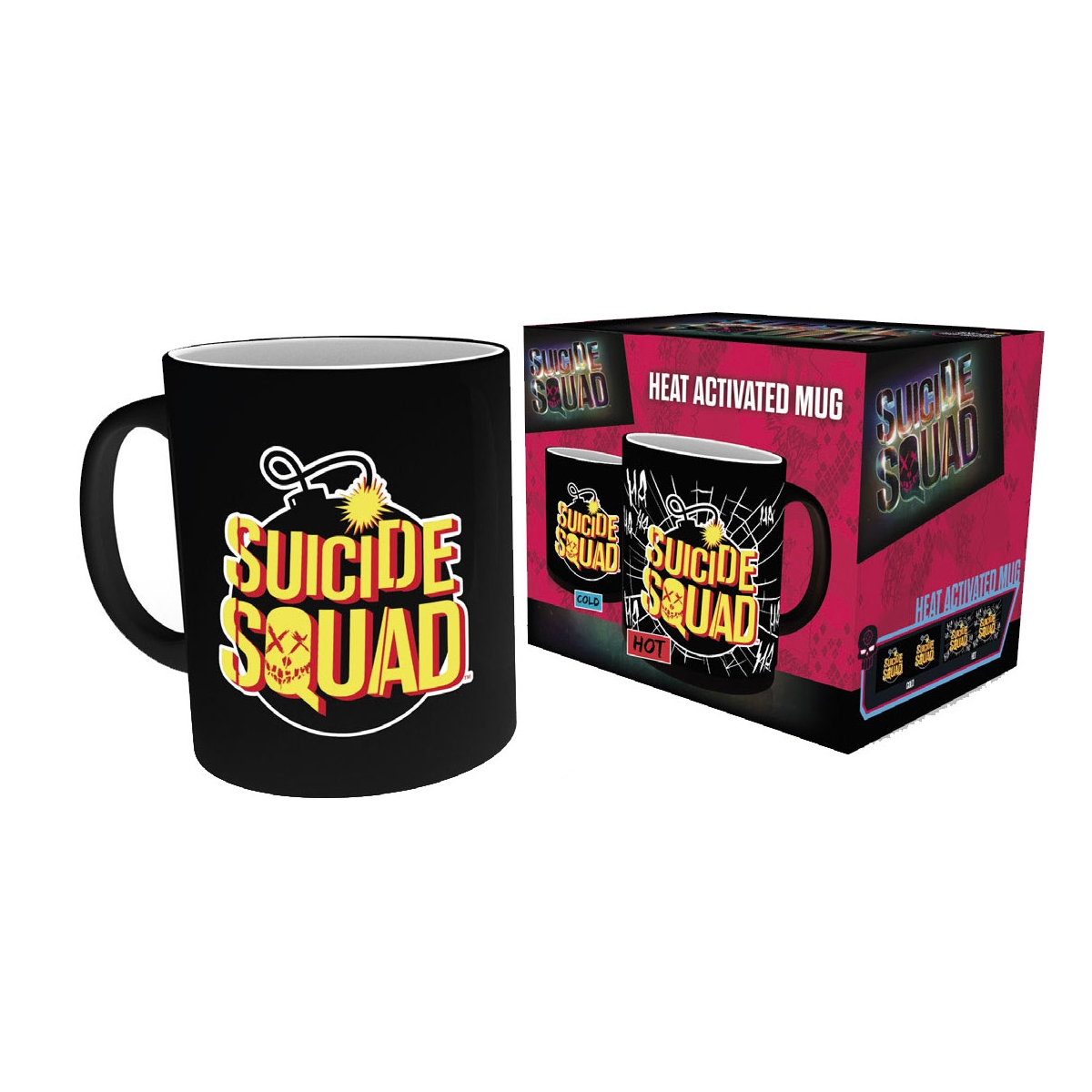 suicide squad mug d cor thermique bomb figurine discount. Black Bedroom Furniture Sets. Home Design Ideas