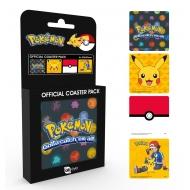 Pokemon - Pack 4 sous-verres Mix