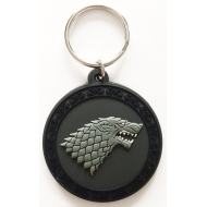 Game of Thrones - Porte-clés caoutchouc Stark 6 cm
