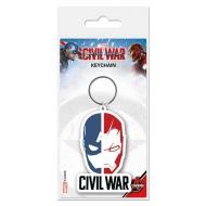 Captain America Civil War - Porte-clés caoutchouc Face Split 6 cm