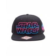 Star Wars - Casquette hip hop Snap Back Pink / Blue Logo