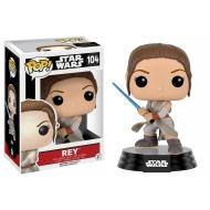 Star Wars Episode VII - Figurine POP! Bobble Head Rey (Battle Pose) 9 cm