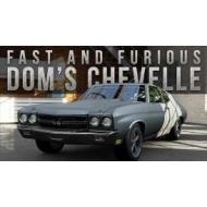 Fast & Furious - Réplique 1970 Dom's Chevrolet Chevelle métal 1/24