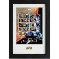 Star Wars - Timbres encadrés Collector 43 x 29 cm