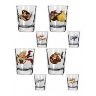 DC Comics Bombshells - Set 4 verres àliqueur Girls