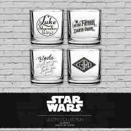 Star Wars - Pack 4 verres Famous Quotes