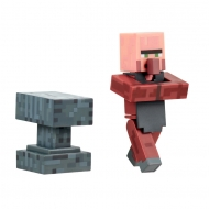 Minecraft - Figurine Blacksmith with Anvil 8 cm