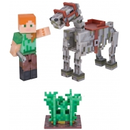 Minecraft - Figurine Alex with Skeleton Horse 8 cm
