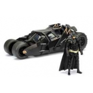 Batman The Dark Knight - Réplique 1/24  Batmobile métal 2008 avec figurine