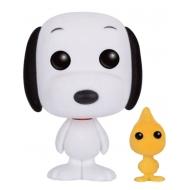 Peanuts - POP! Animation Vinyl figurine Snoopy & Woodstock (Flocked) 9 cm