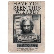 Harry Potter - Panneau métal Sirius Black 41 x 32 cm