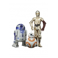 Star Wars Episode VII - Pack 3 statuettes PVC ARTFX 1/10 C-3PO & R2-D2 & BB-8