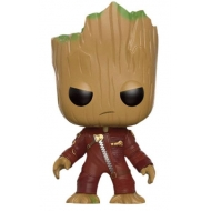 Les Gardiens de la Galaxie - Figurine POP!  Young Groot in Suit (Angry) 9 cm