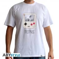 Nintendo - Tshirt Tetris GameBoy cartoon homme Blanc
