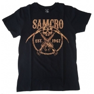 Sons of Anarchy - T-Shirt SAMCRO Chained Brown