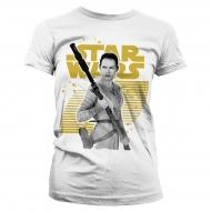 Star Wars Episode VII - T-Shirt femme Rey Gold Logo