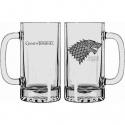 Game of Thrones - Chope en verre Stark Winter is Coming