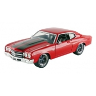 Fast & Furious - 1/24 1970 Dom's Chevrolet Chevelle red with black stripes métal