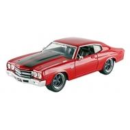 Fast & Furious - Réplique Dom's Chevrolet Chevelle rouge avec bandes noires 1/24 1970