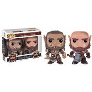 Warcraft - Pack 2 POP! Movies Vinyl figurines Durotan & Ogrim 9 cm