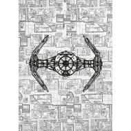 Star Wars - Poster en métal Tie Advanced 32 x 45 cm