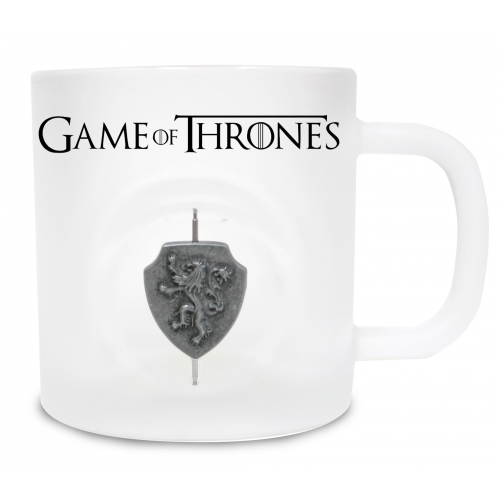 Game of Thrones - Mug en verre Lannister avec Logo 3D Rotatif