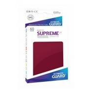 Ultimate Guard - 60 pochettes Supreme UX Sleeves format japonais Bourgogne Mat