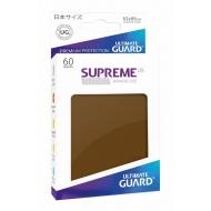 Ultimate Guard - 60 pochettes Supreme UX Sleeves format japonais Marron