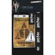 Harry Potter - Dragonne avec porte-clés caoutchouc Deathly Hallows