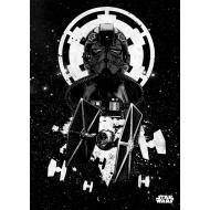Star Wars - Poster en métal Tie Fighter Pilot 32 x 45 cm
