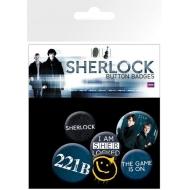 Sherlock Holmes - Pack 6 badges Mix