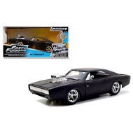 Fast & Furious - 1/24 1970 Dodge Charger Matt Black métal