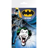 DC Comics - Batman Comic porte-clés caoutchouc Joker Face 7 cm