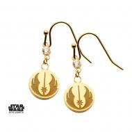 Star Wars - Boucles d'oreille Jedi Symbol & Cubic Zirconia (plaqué or)