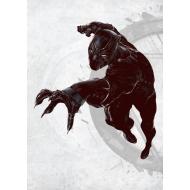 Marvel Comics - Poster en métal Black Panther 32 x 45 cm
