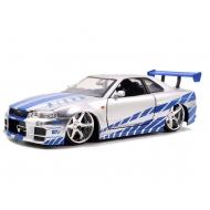 Fast & Furious - 2 Fast 2 Furious 1/24 Brian's 1999 Nissan Skyline GTR R34 métal