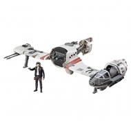 Star Wars Episode VIII Force Link - Véhicule avec figurine 2017 Class C Resistance Ski Speeder