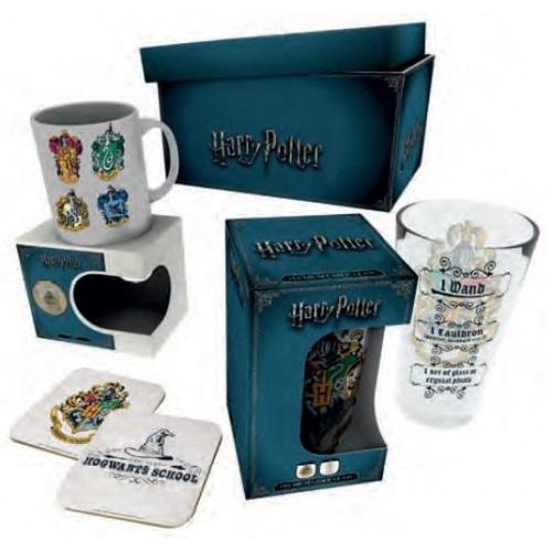 harry potter coffret cadeau crests figurine discount. Black Bedroom Furniture Sets. Home Design Ideas